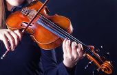 stock photo of violin  - Playing the violin - JPG