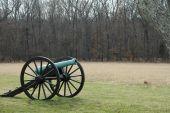 foto of rebs  - Cannon in position on Civil War Battlefields in Virginia - JPG