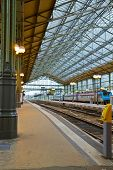 picture of gare  - old modern style railway station in Tours - JPG