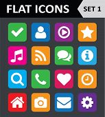 stock photo of universal sign  - Universal Colorful Flat Icons - JPG