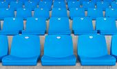 picture of grandstand  - Empty seats of a grandstand in Istanbul