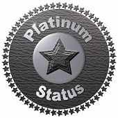 foto of status  - A platinum disc with a circle of stars around it with text  - JPG