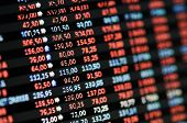 stock photo of trade  - Stock Market Financial Trading Screen on LCD screen - JPG