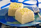 pic of barfi  - Fresh delicious and famous Indian and Pakistani sweet kalakand cubes - JPG