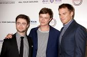 LOS ANGELES - OCT 3:  Daniel Radcliffe, Dane DeHaan, Michael C. Hall at the
