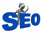 Seo Character Shows Search Engine Optimization Optimized Online