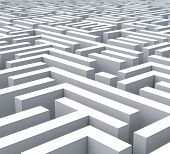 foto of maze  - Maze Shows Problem Confusing Puzzling Or Complexity - JPG