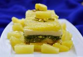 image of barfi  - Delicious, fresh, and unique sweet, made with pineapple [[** Note: Shallow depth of field ** Note: Soft Focus at 100%, best at smaller sizes - JPG