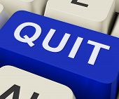 Quit Key Shows Exit Resign Or Give Up
