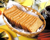 foto of bangla  - Delicious, fresh and crispy rusk in basket