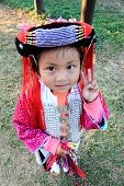girl in traditional dress  Thailand