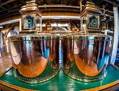 LORETTO, KENTUCKY - JUNE 01, 2013: Image of original copper stills at Makers Mark bourbon distillery