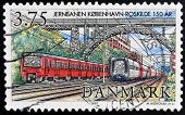 DENMARK - CIRCA 1997: A stamp printed in Denmark shows Copenhagen train station circa 1997