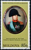 MOLDOVA - CIRCA 2007: Stamp printed in Moldova shows Napoleon Bonaparte