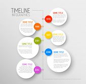 stock photo of line graph  - Vector Infographic timeline report template with icons - JPG