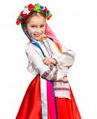 picture of national costume  - beautiful little girl in the national Ukrainian costume - JPG