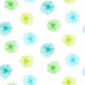 Vector seamless pattern with small furry flowers poster