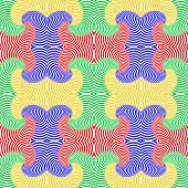 Design Seamless Colorful Whirl Movement Pattern. Abstract Twisting Lines Textured Background