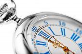 foto of time machine  - Big shot pocket grandfather clock on a white background - JPG