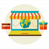 stock photo of awning  - online shopping - JPG