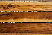 stock photo of stockade  - Classic color of wood is totally awesome - JPG