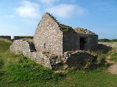 pic of stockade  - Fort fortification ruined building photographed at Berry Head in Devon - JPG