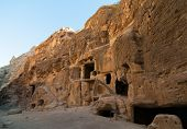 foto of petra jordan  - Nabataean delubrum of the Siq al - JPG