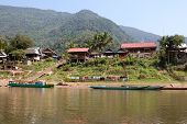 pic of ou  - Fishing village Muang Ngoi Neua in Laos can be only reach at Nam Ou river - JPG