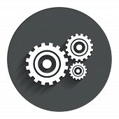 picture of cogwheel  - Cog settings sign icon - JPG