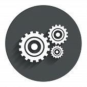 image of cogwheel  - Cog settings sign icon - JPG