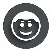 stock photo of lol  - Smile face sign icon - JPG