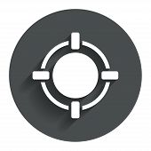 picture of crosshair  - Crosshair sign icon - JPG