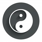 picture of ying-yang  - Ying yang sign icon - JPG