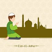 picture of namaz  - Muslim boy praying  - JPG