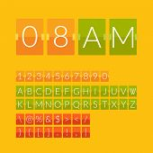 picture of countdown timer  - Flat countdown timer - JPG