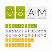 stock photo of countdown timer  - Flat countdown timer - JPG