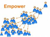 stock photo of empower  - Empower Leadership Showing Initiative Command And Authority - JPG