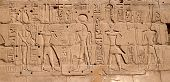 picture of hieroglyph  - Egyptian antique hieroglyphs from Karnak Temple Complex - JPG