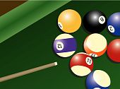 Pool table and balls