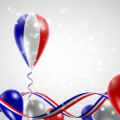 stock photo of twist  - Flag of France on balloon - JPG