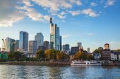 picture of frankfurt am main  - Frankfurt am Main cityscape in the evening - JPG