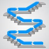 stock photo of upstairs  - Career path stairs art info - JPG