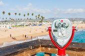 picture of coins  - coin operated telescope at Newport Beach Pier - JPG
