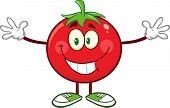 picture of open arms  - Tomato Cartoon Mascot Character With Open Arms For A Hug - JPG