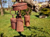 picture of chimes  - Beautiful metal old decorative garden bell wind chimes - JPG