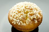 image of patty-cake  - Muffin cake Cupcake with sesame seeds on the table - JPG
