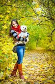 picture of west highland white terrier  - woman with west highland terrier in the park - JPG