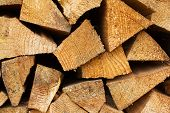 stock photo of firewood  - sectional drawing stack of firewood  - JPG