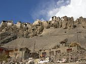 picture of jammu kashmir  - Temple on the cliff Ladakh Region Jammu and Kashmir State India - JPG