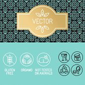 picture of cosmetic products  - Vector design elements in trendy linear style  - JPG